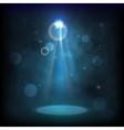 Premiere Blue Show background sparkles Smoky vector image vector image