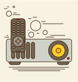 projector icon flat vector image vector image