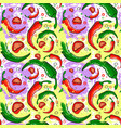seamless pattern chili pepper vegetables ornament vector image vector image