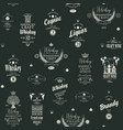 seamless pattern with labels for alcoholic drinks vector image vector image