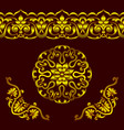 set of golden patterns in ethnic national vector image vector image