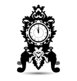 silhouette of vintage watch in baroque style vector image vector image