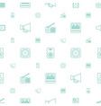 speaker icons pattern seamless white background vector image vector image