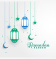 stylish ramadan kareem islamic festival background vector image
