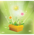 Summer cartoon vector image vector image