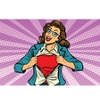 super hero woman ripping shirt vector image