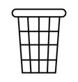 toilet trash icon with outline and line style vector image vector image