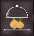 tray server with vegetable menu vector image vector image