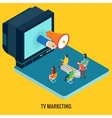 TV marketing concept vector image vector image