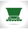 Vetor color flat trolley icon Epsflat color0 vector image