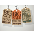 Vintage Style Sale Tags vector image vector image