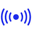 wi-fi point grunge icon vector image vector image