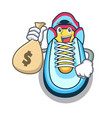 with money bag classic sneaker character style vector image