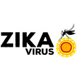 Zika virus caused by mosquito vector image