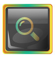 zoom grey icon with colorful details on white vector image vector image