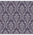 damask seamless pattern in purple and gray vector image