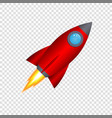 3d cartoon rocket vector image vector image