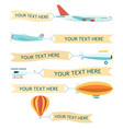 advertising aircrafts with banners set vector image