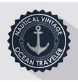 anchor marine retro icon vector image vector image