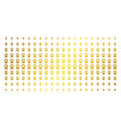 award gold halftone matrix vector image