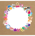 Back to School of paper background vector image vector image