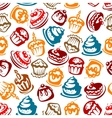 Birthday cakes with candles seamless pattern vector image vector image