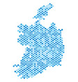 blue dotted ireland republic map vector image vector image