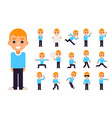 boy in different poses and actions teen characters vector image vector image