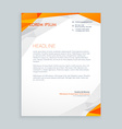 business style letterhead design vector image vector image
