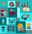 cinema festival poster flyer media production vector image vector image