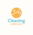 cleaning service logo roof of the house vector image