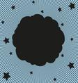 Comic black cloud vector image vector image
