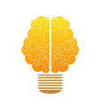creative concept human brain in the lamp vector image vector image