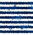 Dark blue ink stripes and splashes seamless vector image