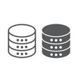 database line and glyph icon data vector image vector image