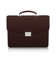 Detailed dark brown briefcase with leather texture vector image