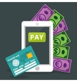 Electronic payment and technology vector image vector image