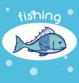 fishing water sport vector image
