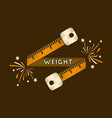 flat shading style icon weight loss logo vector image vector image