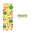 fruits fresh and tasty banner template design vector image vector image