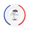 Funny french restaurant menu design template vector image vector image