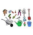 gardening tools set vector image vector image