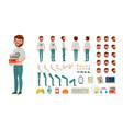 geek man animated character creation set vector image vector image