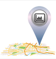 graph pin pointer on map location vector image vector image