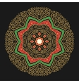 Hand Drawn Golden Mandala vector image vector image