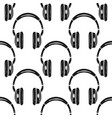 headphones seamless pattern music symbol vector image vector image