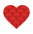 heart valentine icon vector image vector image
