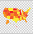 high detailed usa map with federal states united vector image vector image