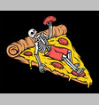 just chilling with pizza vector image vector image