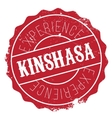 Kinshasa stamp rubber grunge vector image vector image